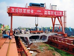 Underslung Segmental Launching Gantry