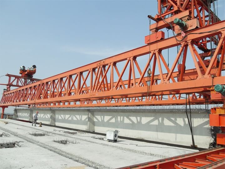 160 Ton Bridge T Girder Launcher Erection Crane