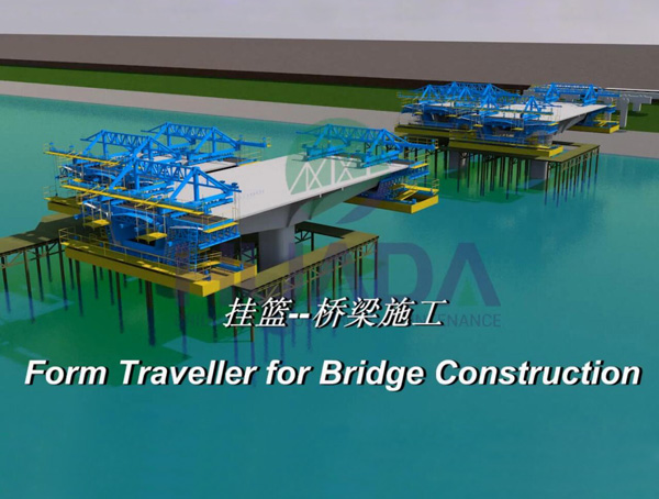 170T Form Traveller Adopts Balanced Cantilever  Conrtruction for Bridge Construction