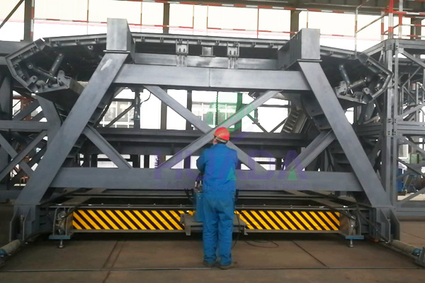 Short Line Assembly Precast Segment Mould Operation Test