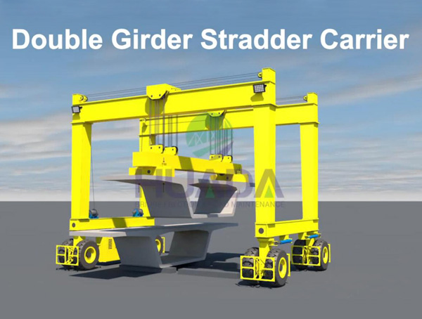 Double Girder Straddle Carrier for Lifting Precast Segment Girder, Straddle Carrier Manufacturer